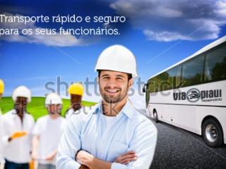 Transporte, Viagem, Transfer Ou Deslocamento De Funcionários, Colaboradores E Operários Em Teresina É Com A Via Piauí