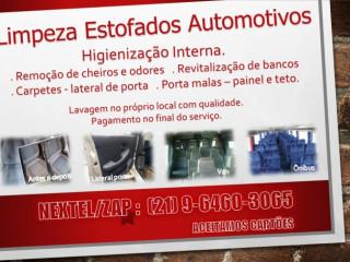 Limpeza De Estofados Carro,van E Ônibus Rj