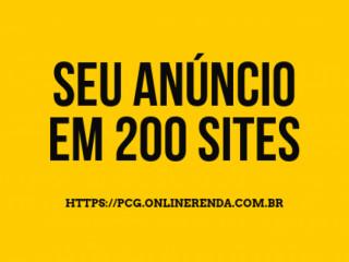 Faça seu Anúncio em 200 Sites Ainda Hoje